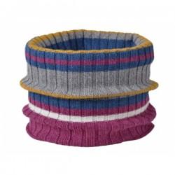 Colsjaal multicolor biologisch katoen, wol en zijde