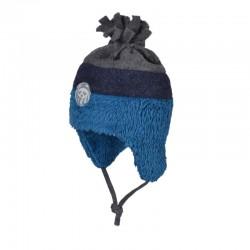 Wintermuts jongens grijs blauw bio katoen en wol