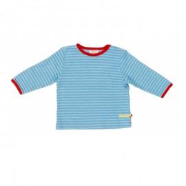 Babyshirtje bio katoen lichtblauw gestreept