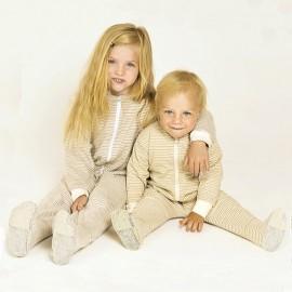 jumpsuit pyjama baby en kind 2-laags bio katoen