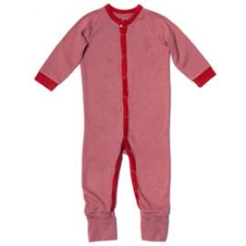 Baby pyjama - romper rood gestreept
