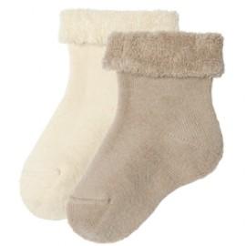 Zachte baby sokken bio katoen in 2 kleuren