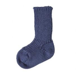 Baby sokken biologische wol indigo