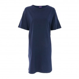 Dames nachthemd navy bio katoen