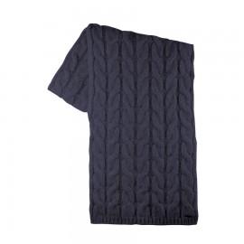 Wollen sjaal dark blue