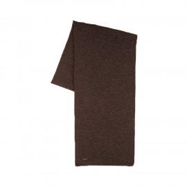 Sjaal donkerbruin 100% merinowol