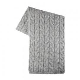 Wollen sjaal grijs